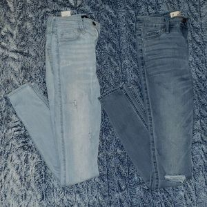 2 pairs of high waist super skinny jeans